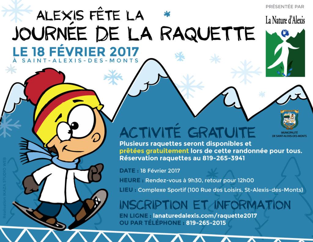 Journée de la raquette 2017 à Saint-Alexis-des-Monts