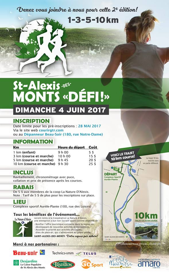 Saint-Alexis-des-Monts Défi 2017