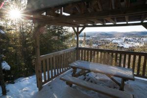 Le belvédère, une vue imprenable sur Saint-Alexis-des-Monts
