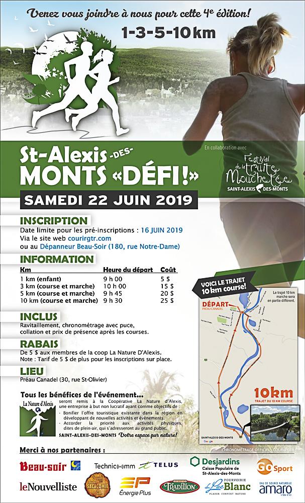 Course Mon Défi 2019 Saint-Alexis-des-Monts